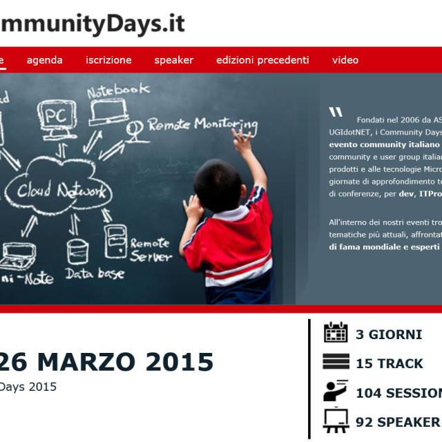 CommunityDays 2015