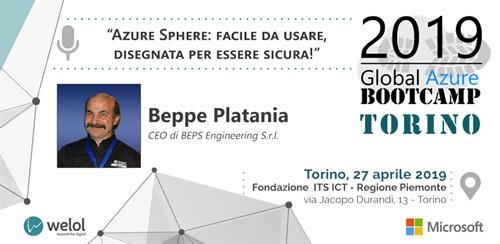 Beppe Platania Azure Bootcamp speaker
